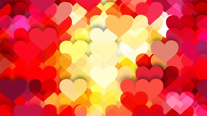 Red and Yellow Love Background Vector Art