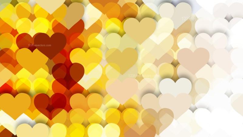 Yellow Heart Background
