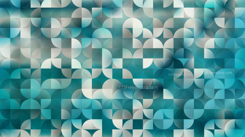 Beige and Turquoise Quarter Circles Background