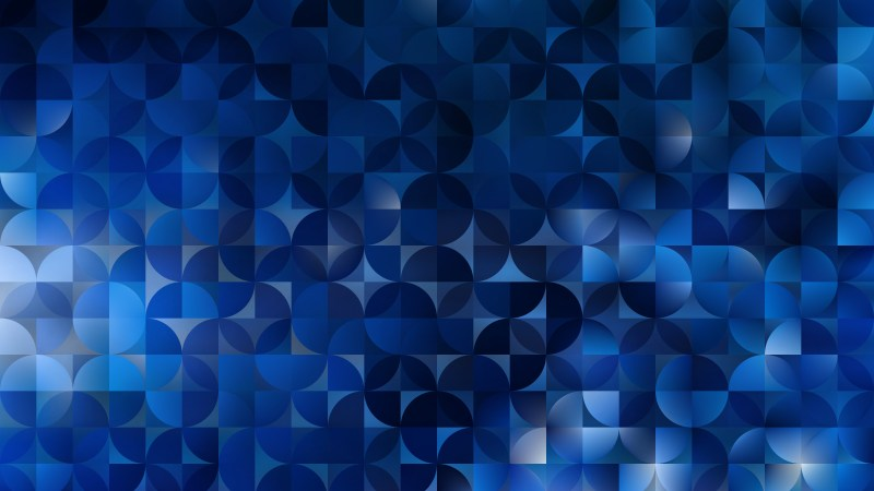 Abstract Black and Blue Quarter Circles Background