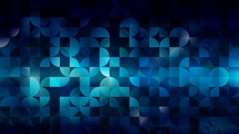 Abstract Black and Blue Quarter Circles Background Illustration