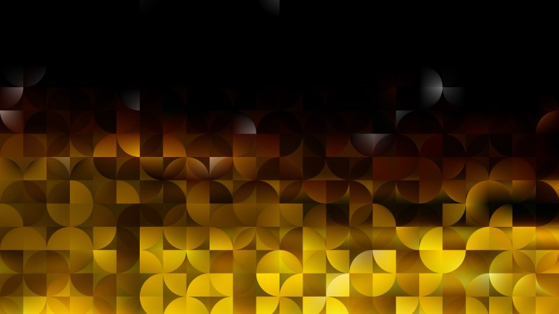Black and Gold Abstract Quarter Circles Background Image