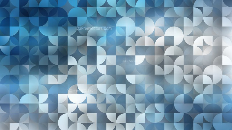 Abstract Blue Quarter Circles Background