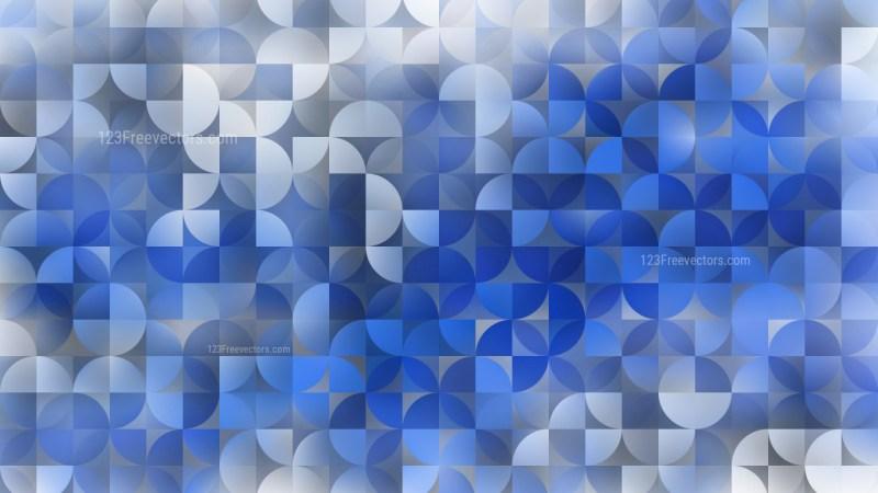 Blue Quarter Circles Background Illustrator