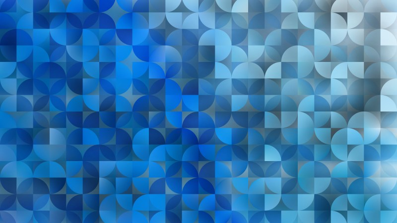 Abstract Blue Quarter Circles Background Vector Illustration