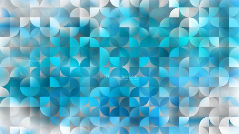 Blue Abstract Quarter Circles Background Vector Art