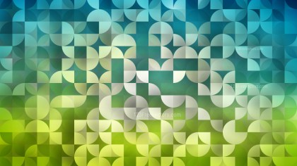 Blue and Green Quarter Circles Background Design
