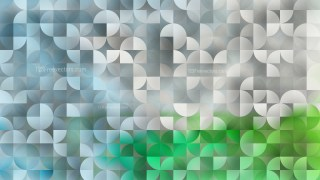 Abstract Blue and Green Quarter Circles Background Image