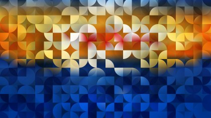 Blue and Yellow Quarter Circles Background