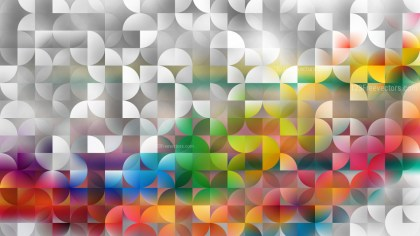 Colorful Abstract Quarter Circles Background