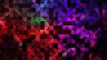 Dark Color Abstract Quarter Circles Background