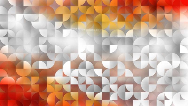 Light Orange Quarter Circles Background Graphic