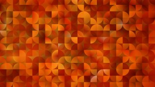 Abstract Orange Quarter Circles Background Illustration