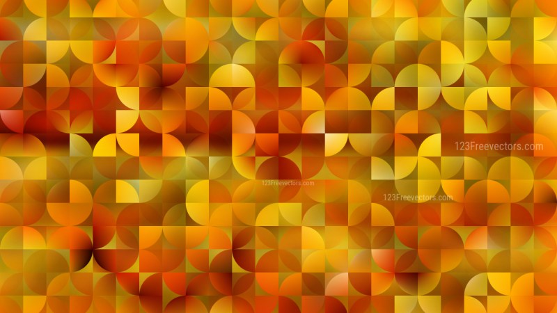 Orange Abstract Quarter Circles Background