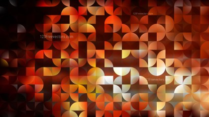 Orange and Black Quarter Circles Background