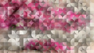 Pink Abstract Quarter Circles Background