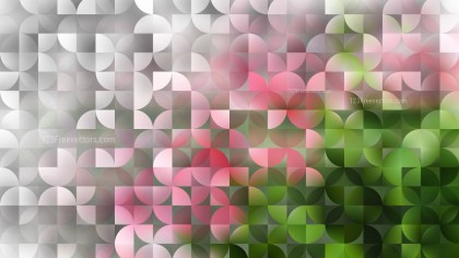 Pink and Green Abstract Quarter Circles Background Vector Image