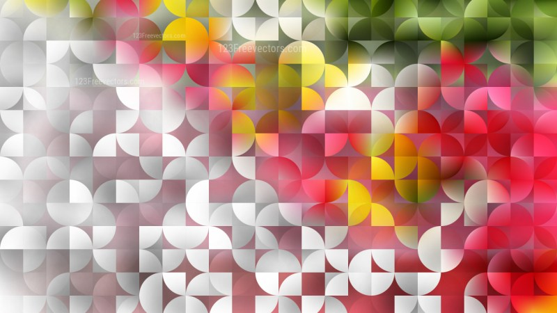 Pink and Yellow Quarter Circles Background