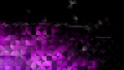 Purple and Black Abstract Quarter Circles Background