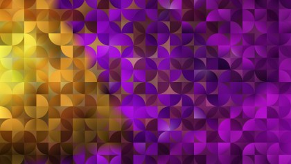 Purple and Gold Abstract Quarter Circles Background Vector Illustration