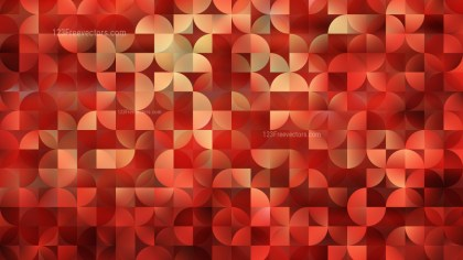 Abstract Red Quarter Circles Background