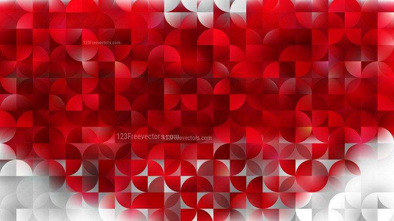 Red Quarter Circles Background Graphic