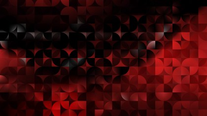 Cool Red Abstract Quarter Circles Background