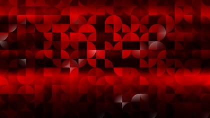 Abstract Cool Red Quarter Circles Background