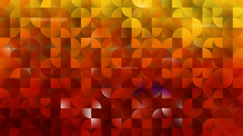 Red and Yellow Abstract Quarter Circles Background Vector Art