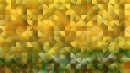 Yellow Abstract Quarter Circles Background