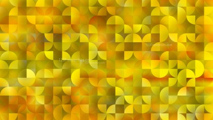 Yellow Abstract Quarter Circles Background Vector Image