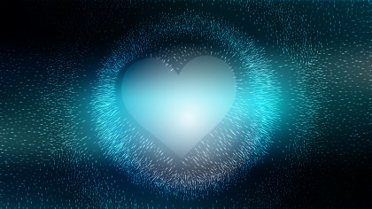 Black and Blue Heart Wallpaper Background Vector Illustration
