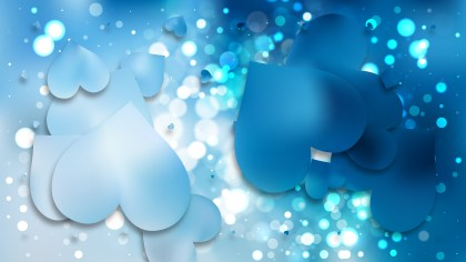 Blue Valentines Background Vector Art