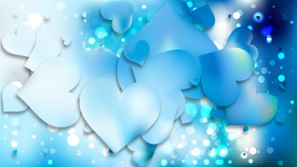 Blue Love Background Illustration