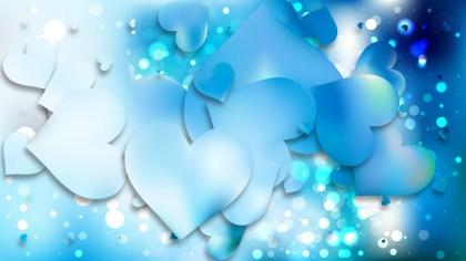 Blue Love Background Illustration