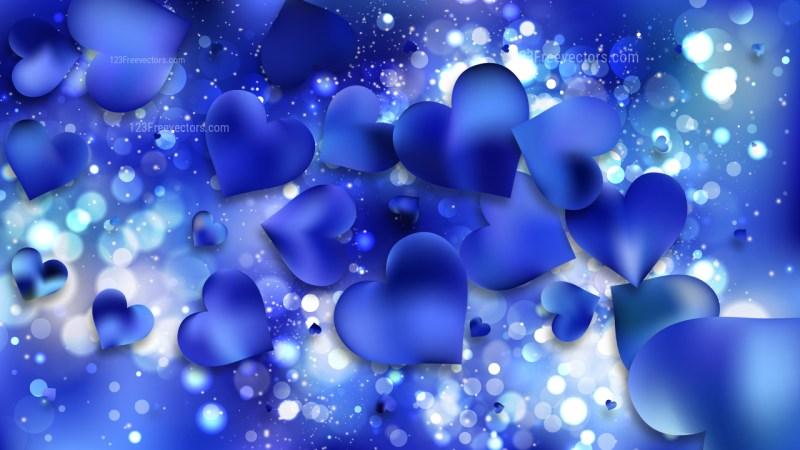 Blue Heart Wallpaper Background