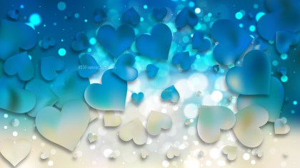 Blue and Beige Valentine Background