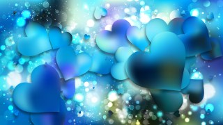 Blue and Green Heart Wallpaper Background Vector Art