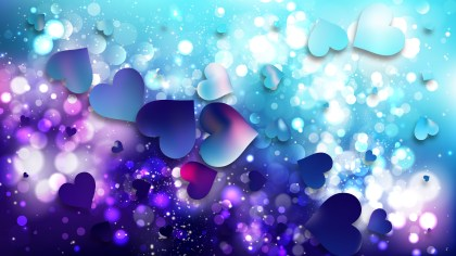 Blue and Purple Valentines Background Illustration