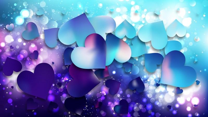 Blue and Purple Valentine Background Design