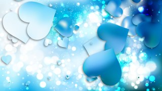 Blue and White Love Background Image