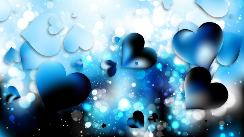Blue and White Heart Background