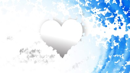 Blue and White Valentines Day Background