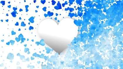 Blue and White Valentines Background