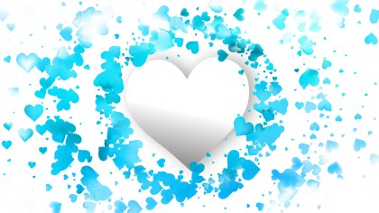 Blue and White Love Background