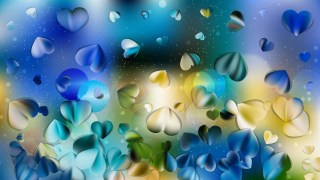Blue and Yellow Valentines Background Image