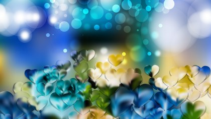 Blue and Yellow Valentines Day Background