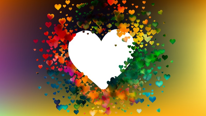 Colorful Heart Background Design