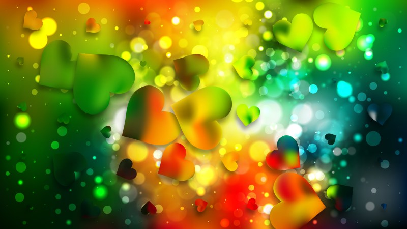 Colorful Heart Wallpaper Background Image
