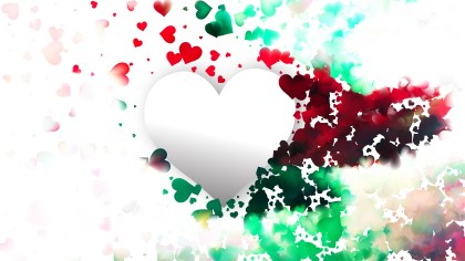 Colorful Heart Wallpaper Background